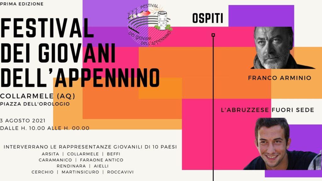 Festival dei giovani dell'Appennino, dieci delegazioni giovanili si riuniranno a Collarmele