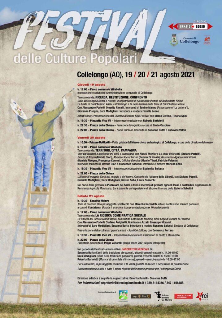 Festival delle Culture Popolari a Collelongo: laboratori di musica, tavole rotonde, passeggiate musicali, naturalistiche, archeologiche e concerti