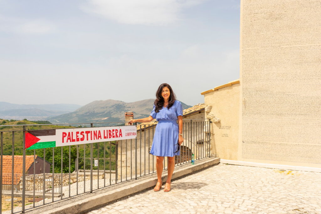Oggi la visita dell'ambasciatrice di Palestina Abeer Odeh ad Aielli