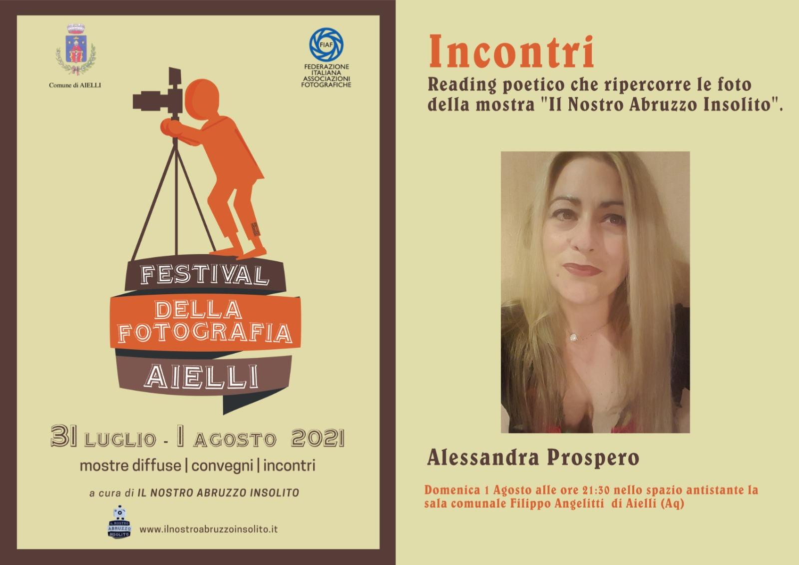 La Poesia di Alessandra Prospero chiude il Festival della Fotografia ad Aielli