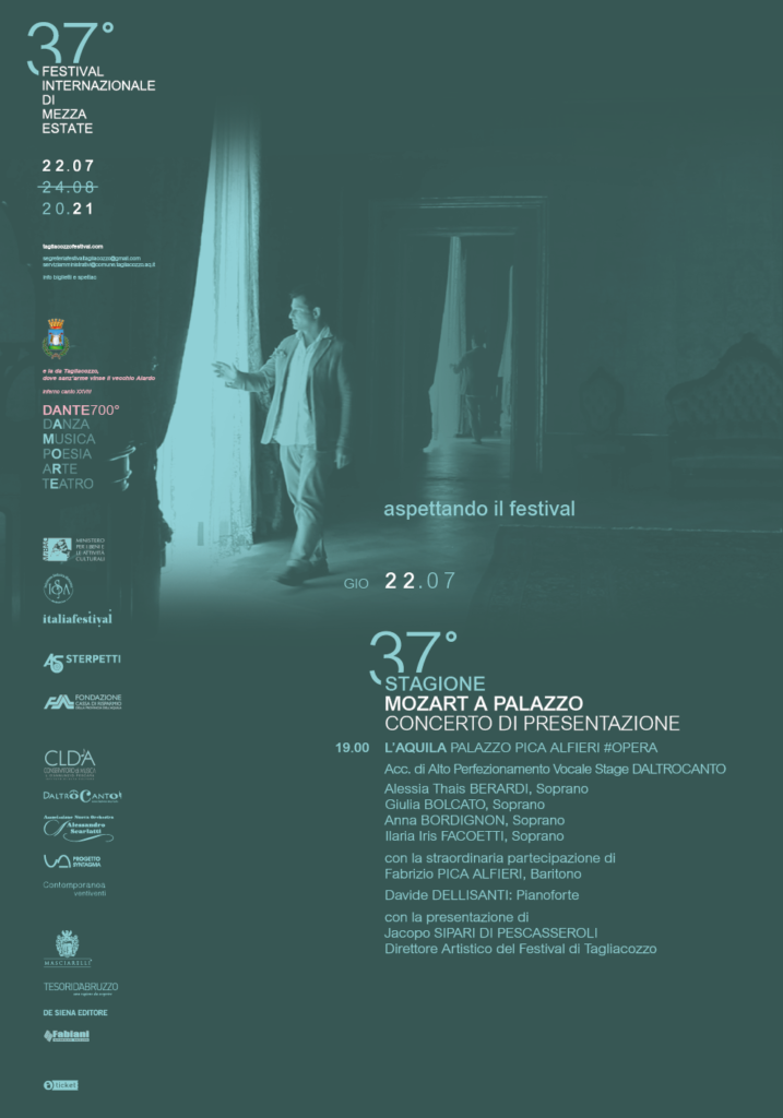 Mozart a Palazzo Pica Alfieri. Tagliacozzo Festival presenta il suo programma a L'Aquila