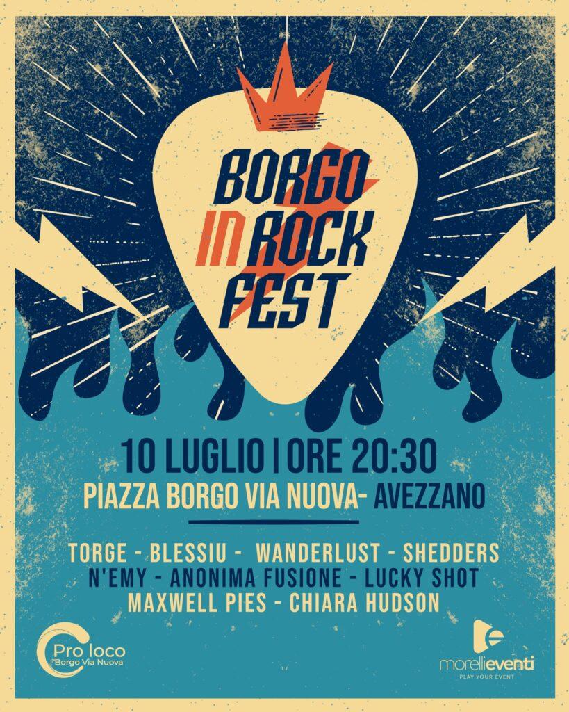 Borgo in Rock Fest, la prima edizione il 10 luglio nella piazza di Borgo Via Nuova ad Avezzano