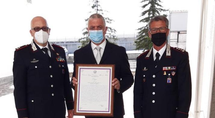 Elogio al Luogotenente C.S. in congedo Domenico Petrocco