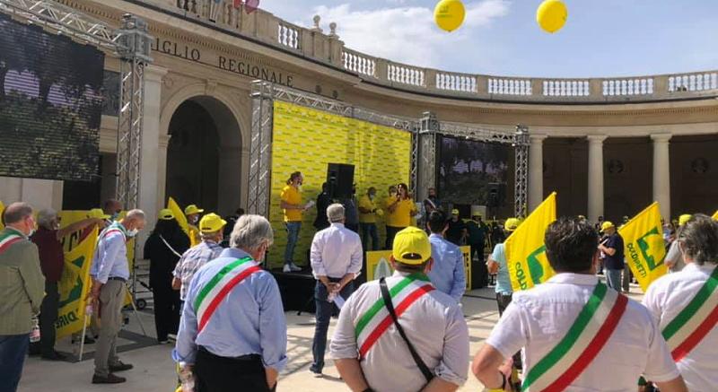 Flashmob Coldiretti contro i cinghiali, presenti anche diversi Comuni marsicani