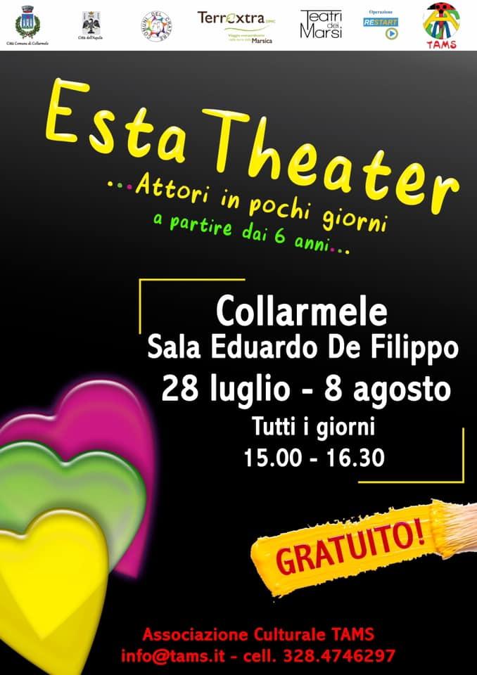 Esta Theater, corso gratuito di teatro per bambini e ragazzi a Collarmele