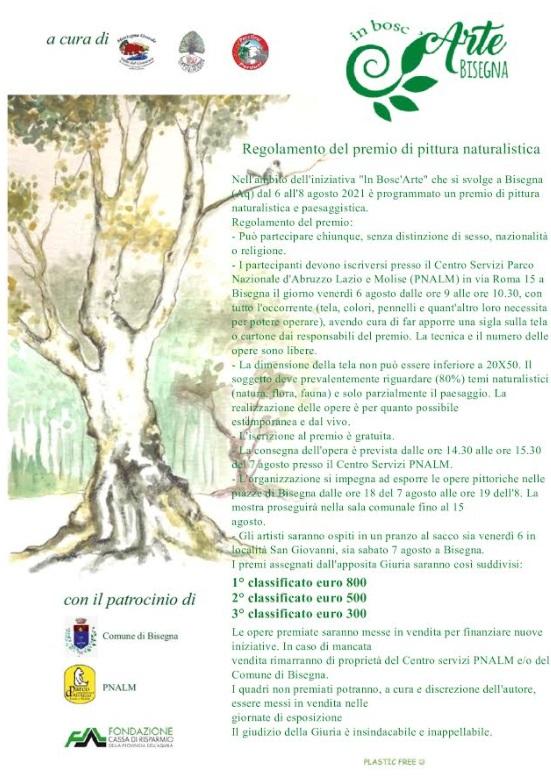 Festival di pittura naturalistica, premio alle migliori opere, corsi di disegno ed escursioni