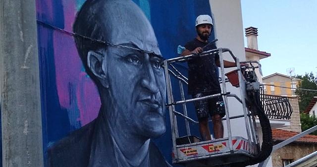 Aielli omaggia l'illustre cittadino astronomo Filippo Angelitti con un murale