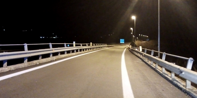 Realizzazione degli impianti di illuminazione degli svincoli sulla superstrada del Liri