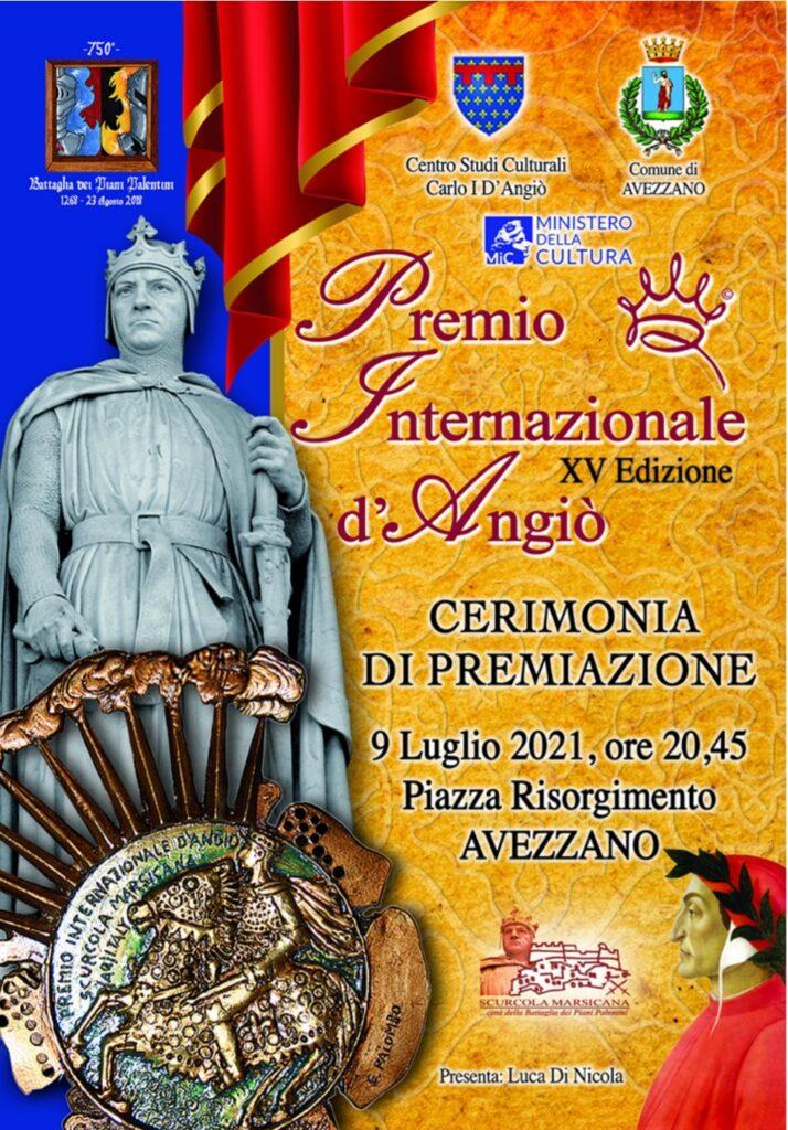 Premio Internazionale D'Angiò, venerdì 9 luglio in Piazza Risorgimento ad Avezzano