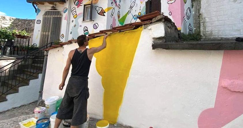 La nuova opera di Riccardo Matlakas per Borgo Universo ad Aielli