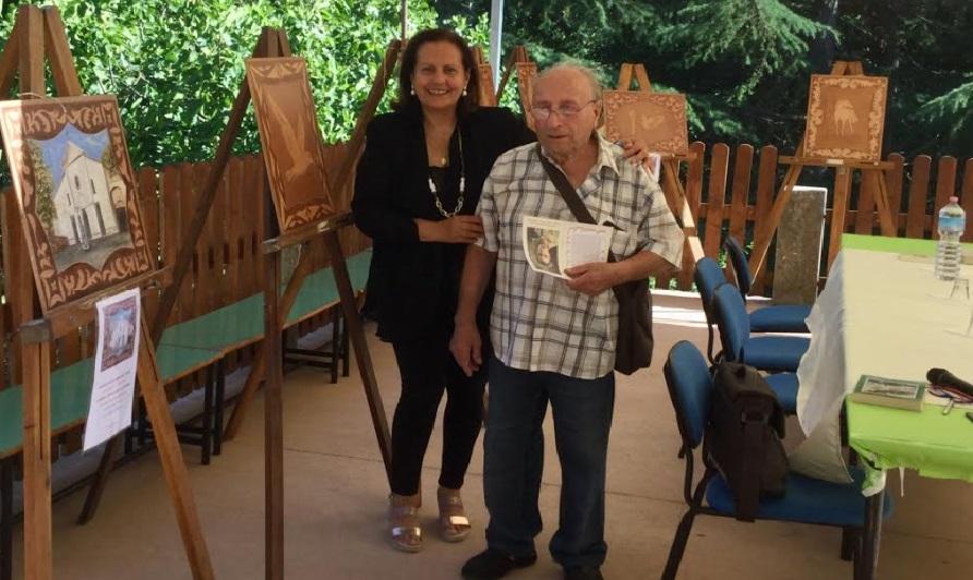 La scrittrice Maria Assunta Oddi in compagnia dell'artista Ascenzo Bianchi