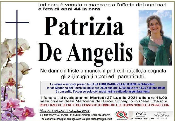 Ritrovata senza vita nel letto, addio a Patrizia De Angelis
