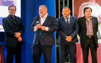 XV^ Edizione Premio Internazionale D'Angiò, riconoscimento artistico locale assegnato al senatore Primo Di Nicola e al cantautore Antenore Bucci