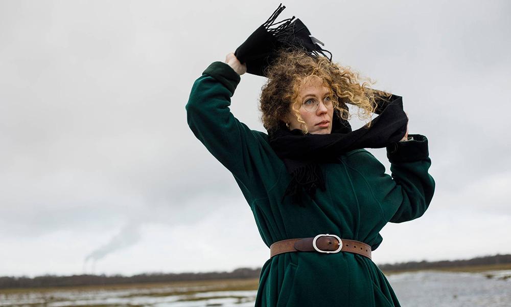 """La nota scrittrice danese Rakel Haslund-Gjerrild a Civita d'Antino per la presentazione del suo nuovo romanzo """"Adam i Paradis"""""""