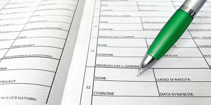 Raccolta firme Referendum 2021 al Comune di Civita D'Antino