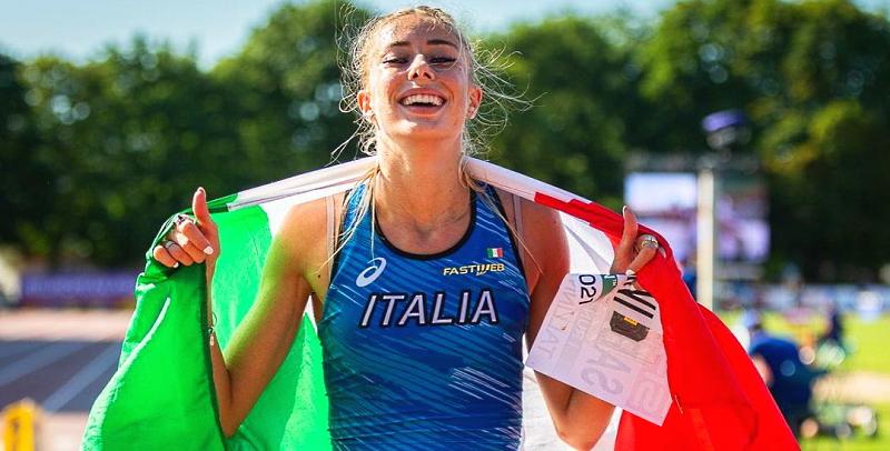 L'atleta abruzzese Gaia Sabbatini vince l'oro agli europei U23 di Tallinn