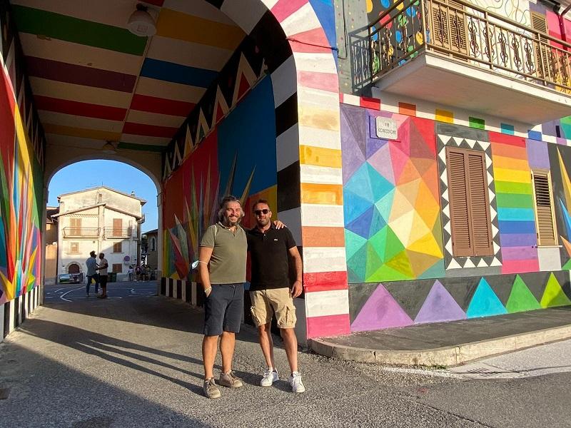 Aielli, tra i turisti il Sindaco di Riese Pio X (TV)