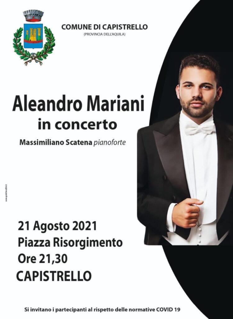 """Il tenore marsicano Aleandro Mariani in concerto a Capistrello: """"lo dedico ai lavoratori"""""""