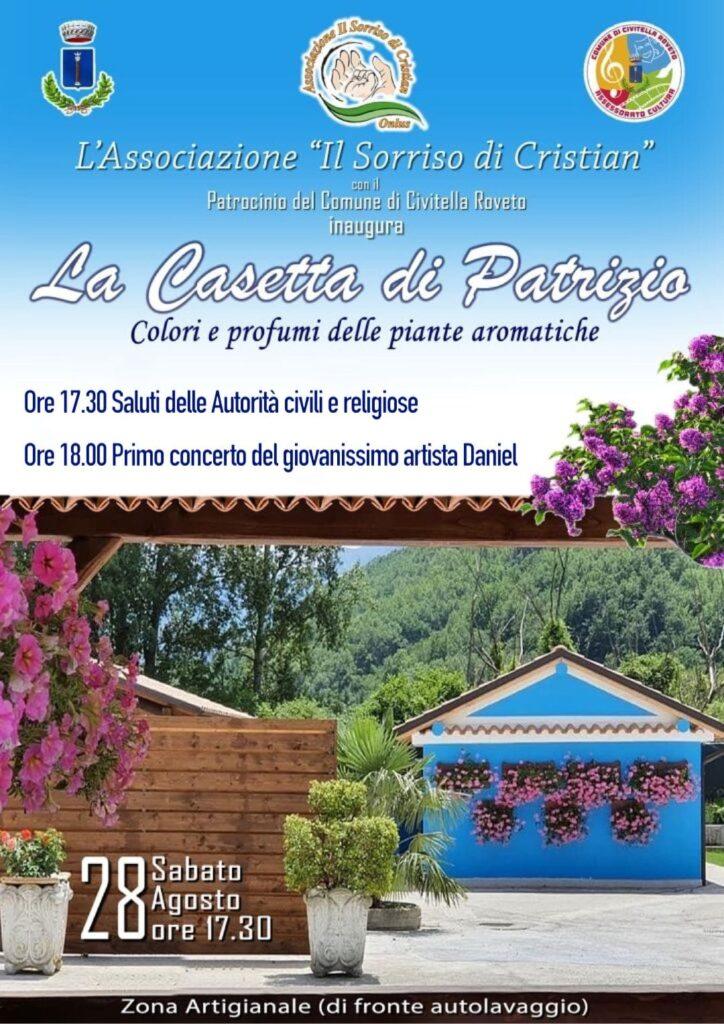 """La """"Casetta di Patrizio"""" è pronta: il 28 agosto inaugurazione dell'Associazione """"Il sorriso di Cristian"""""""