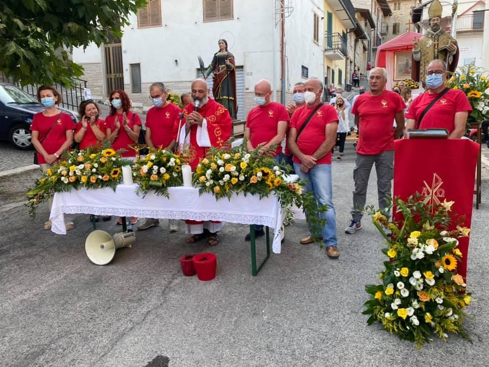 Santa Messa all'aperto in onore di Santa Filomena e San Nicola a Sante Marie