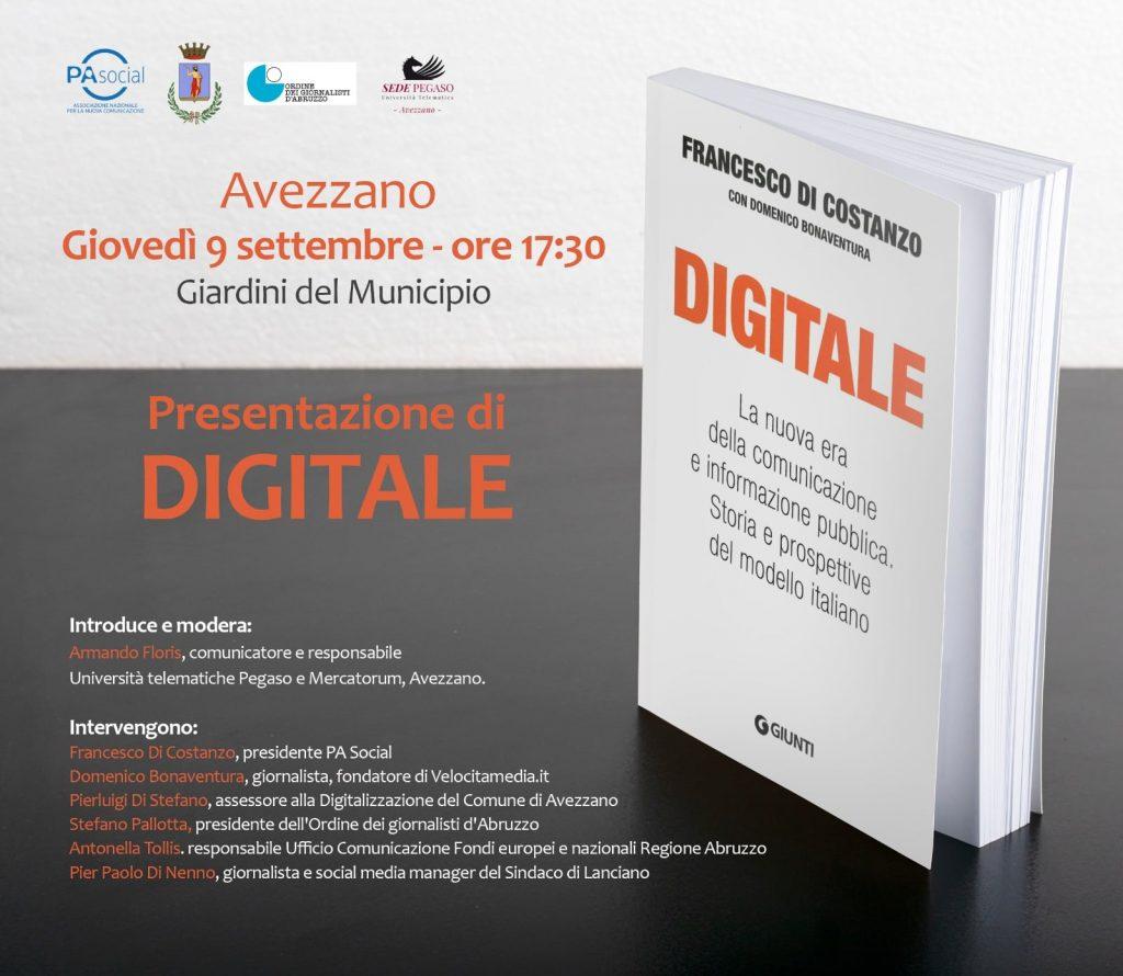 """Presentazione del libro """"Digitale. La nuova era della comunicazione e informazione pubblica. Storia e prospettive del modello italiano"""""""