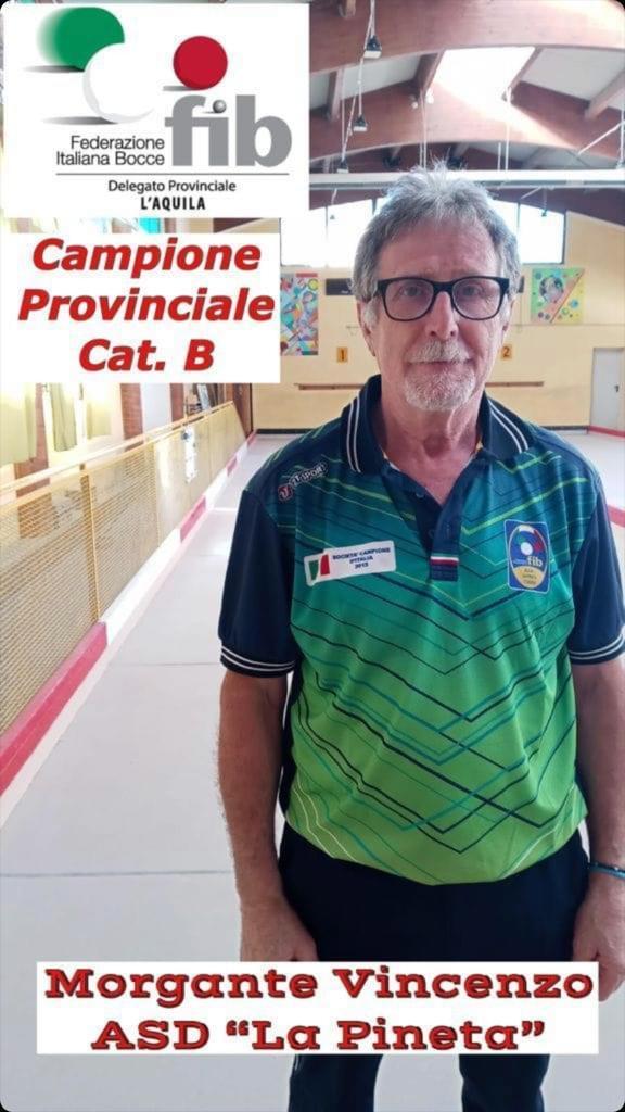 Bocce, Vincenzo Morgante vince i campionati regionali