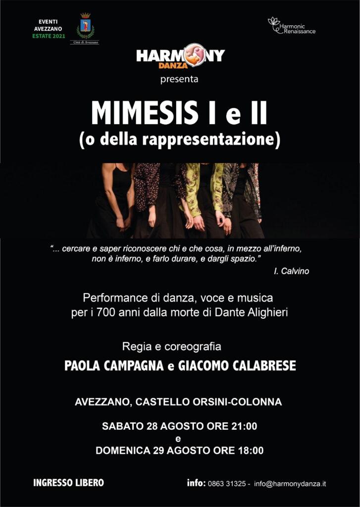 MIMESIS I e II, danzatori e performers al Castello Orsini per i 700 anni dalla morte di Dante Alighieri
