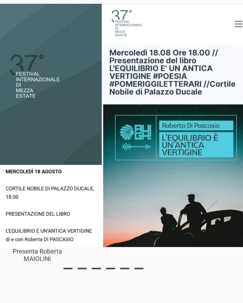 La scrittrice abruzzese Roberta Di Pascasio presenta il suo libro al festival Internazionale di Mezza Estate