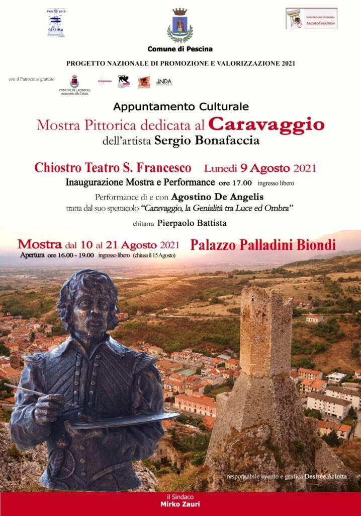 Il Comune di Pescina presenta due importanti appuntamenti culturali su Caravaggio e Dante