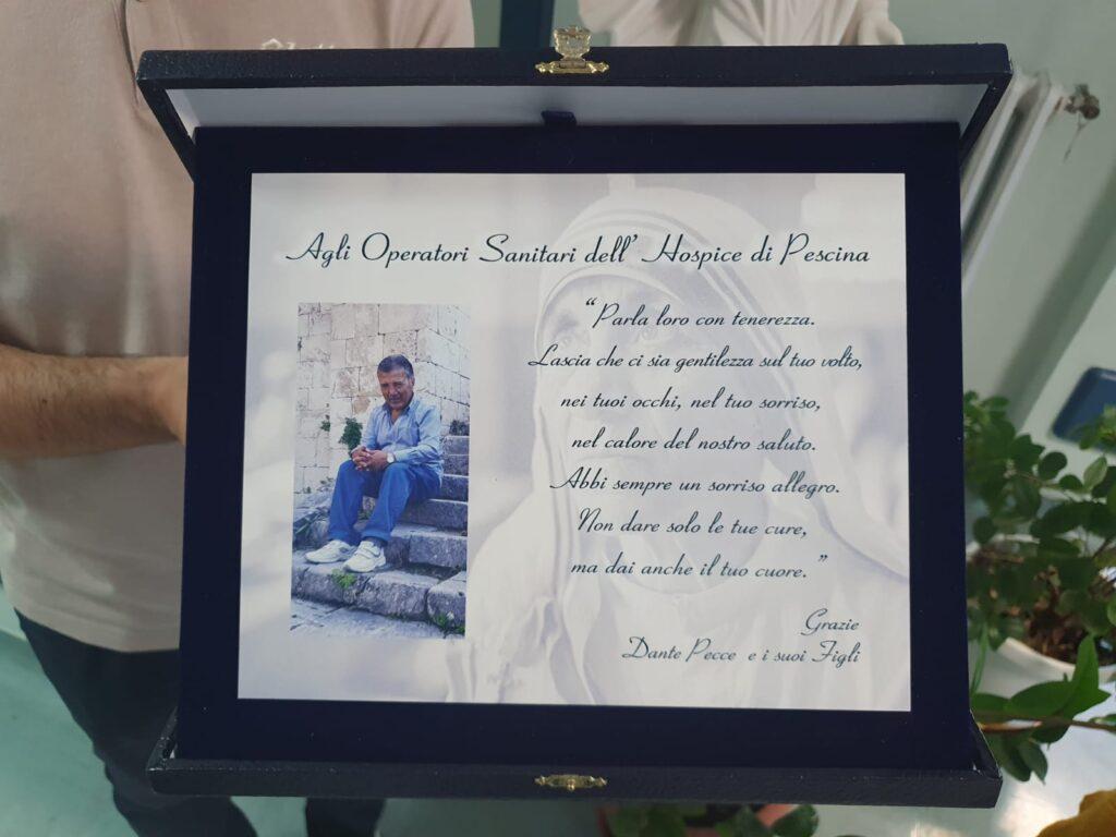In ricordo di Dante Pecce donati televisori al reparto Hospice dell'ospedale di Pescina