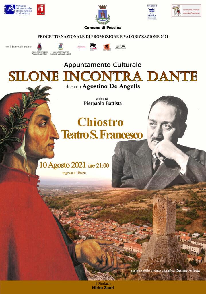 Omaggio a Dante e Silone nel Comune di Pescina col regista Agostino De Angelis