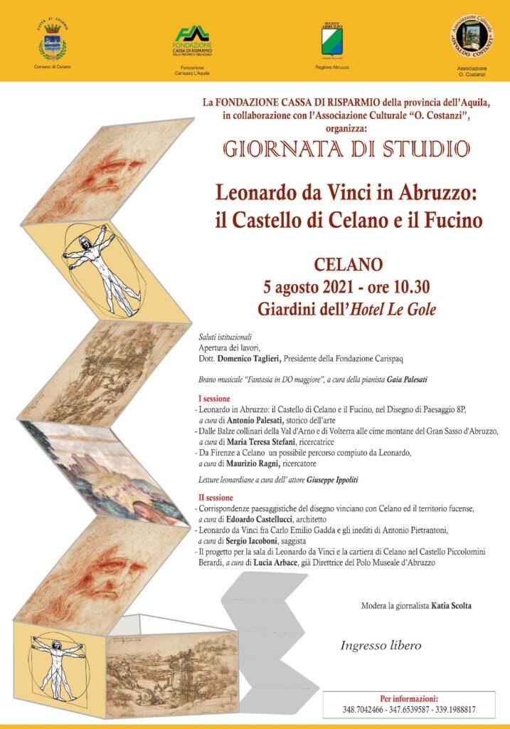 Leonardo Da Vinci e il Fucino: una giornata studio dedicata al suo legame con l'Abruzzo