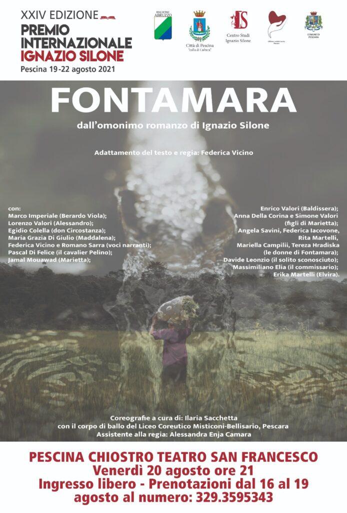 """Seconda giornata del Premio Internazionale Silone con la presentazione del nuovo sito web Silone.it, il convegno su Tempo Presente e lo spettacolo """"Fontamara"""""""