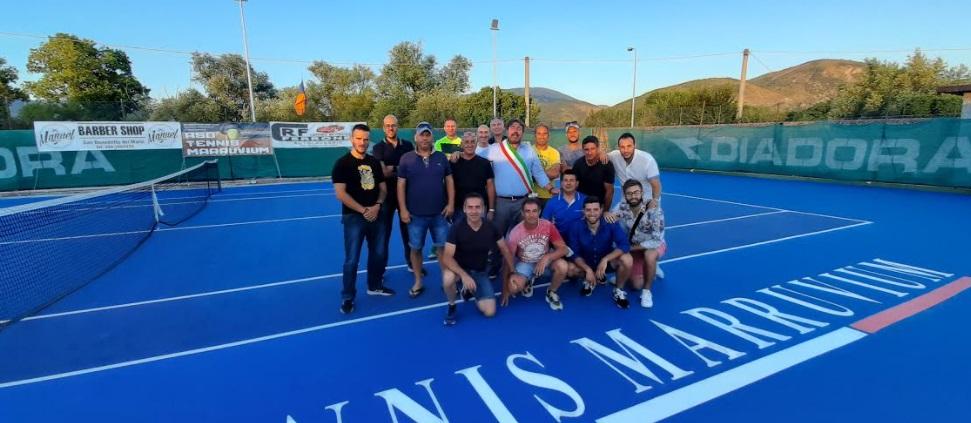 Inaugurato il nuovo campo da tennis di San Benedetto dei Marsi