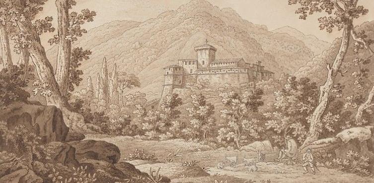 Il castello di Balsorano in un disegno del 1791 di Sir Richard Colt Hoare