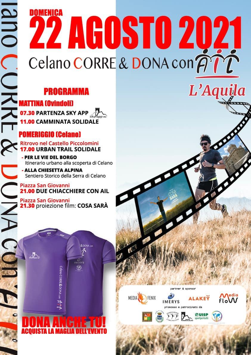 Celano Corre & Dona con AIL, evento benefico domenica 22 agosto