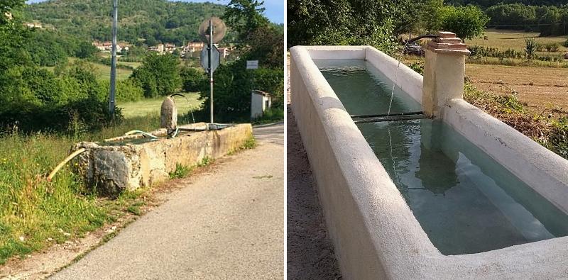 Ristrutturata la fonte di San Sebastiano a Rosciolo