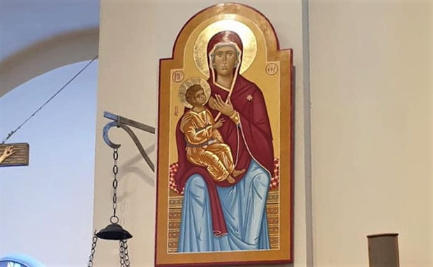 Icona della Madonna del Latte donata a Carsoli in memoria del piccolo Edoardo Marcangeli