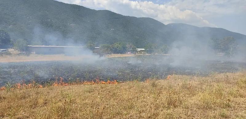 Nuovo incendio nelle campagne di Collelongo