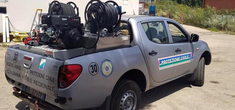 Nuovo mezzo con modulo antincendio consegnato al Gruppo Comunale di Protezione Civile di Carsoli