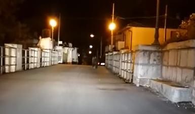 Un esemplare di orso marsicano si aggira di notte per le strade di Lecce nei Marsi