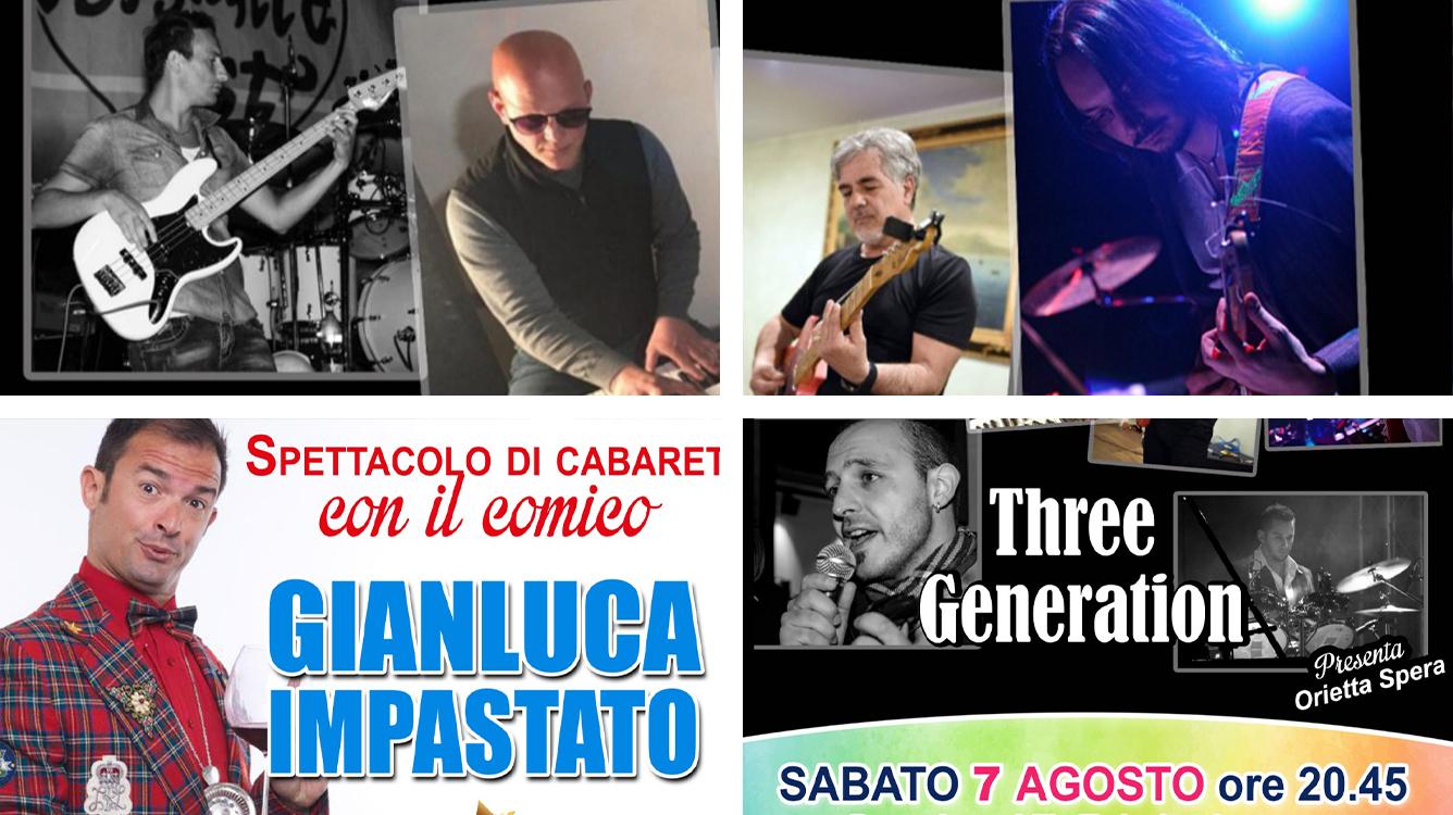 """Settimana marsicana: sul palco: i """"Three Generation"""" e lo spettacolo di cabaret di Gianluca Impastato"""