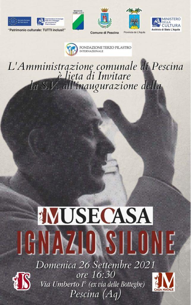 Omaggio a Ignazio Silone, due giorni di eventi a Pescina per sottolineare la forza e l'attualità del suo magistero civile e letterario