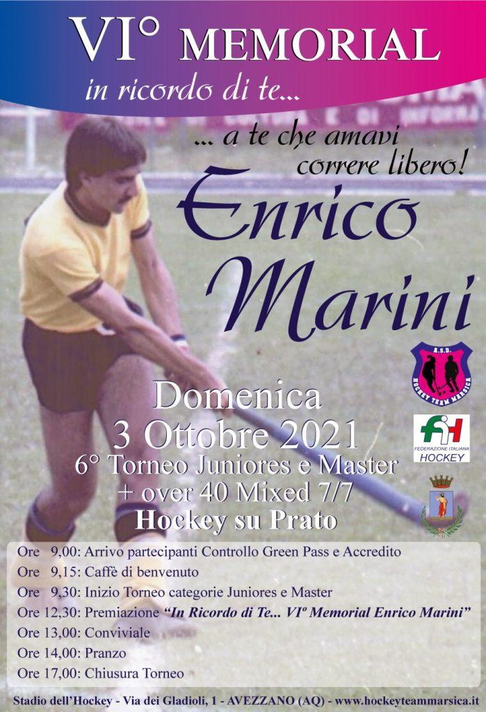 Domenica il VI° Memorial Enrico Marini di hockey su prato ad Avezzano