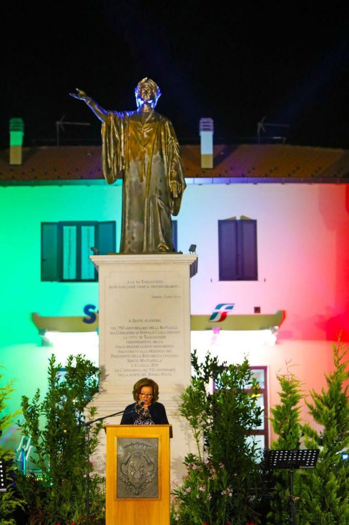Tagliacozzo, celebrato Dante Alighieri nel settimo centenario dalla morte con un suggestivo evento