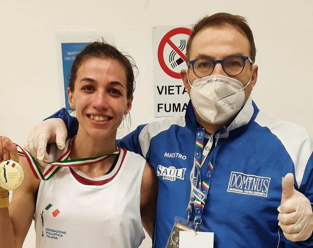 Olena Savchuk della Sauli Boxe allo Stage Nazionale Elite & U22 Femminile