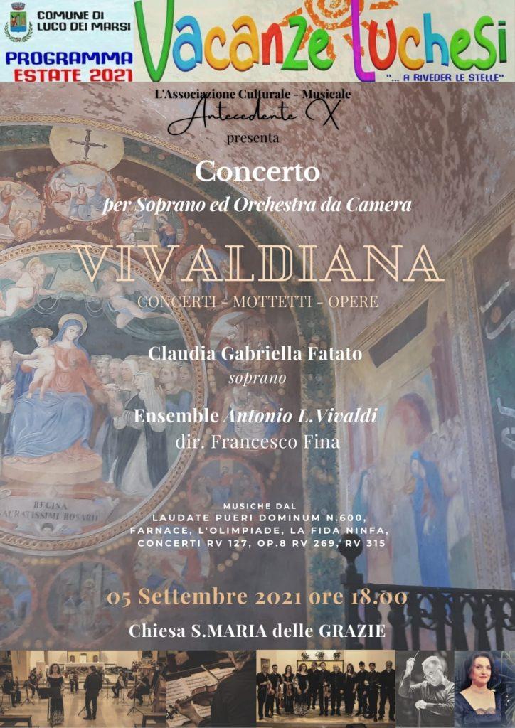 """Il concerto """"Vivaldiana"""" conclude l'Estate Luchese, il Sindaco De Rosa: """"Non poteva esservi finale migliore"""""""