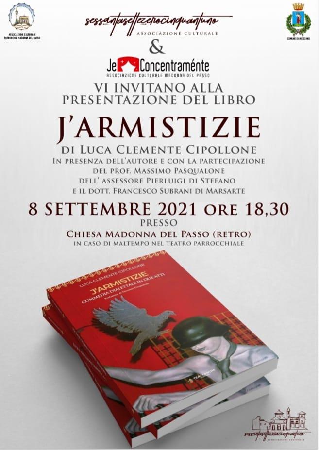 """Commedia dialettale """"J'Armistizie"""", domani la presentazione alla Chiesa Madonna del Passo"""