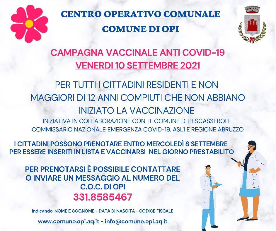 Campagna Vaccinale Anti Covid-19 a Opi