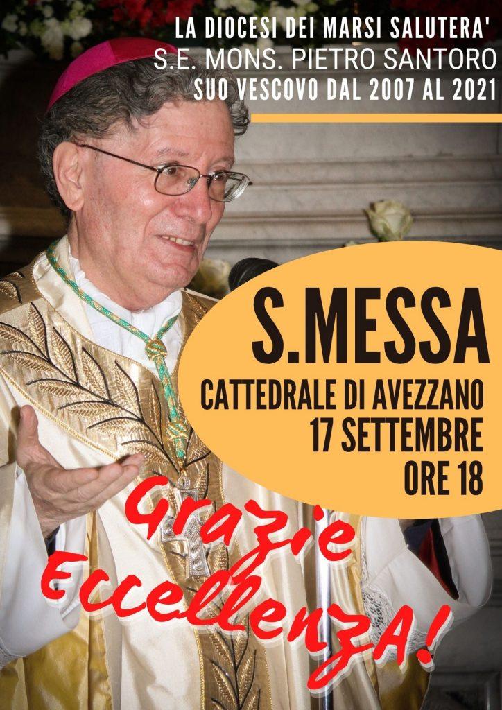 """La Diocesi dei Marsi saluta Mons. Santoro con una Messa alla Cattedrale di Avezzano: """"Grazie Eccellenza"""""""